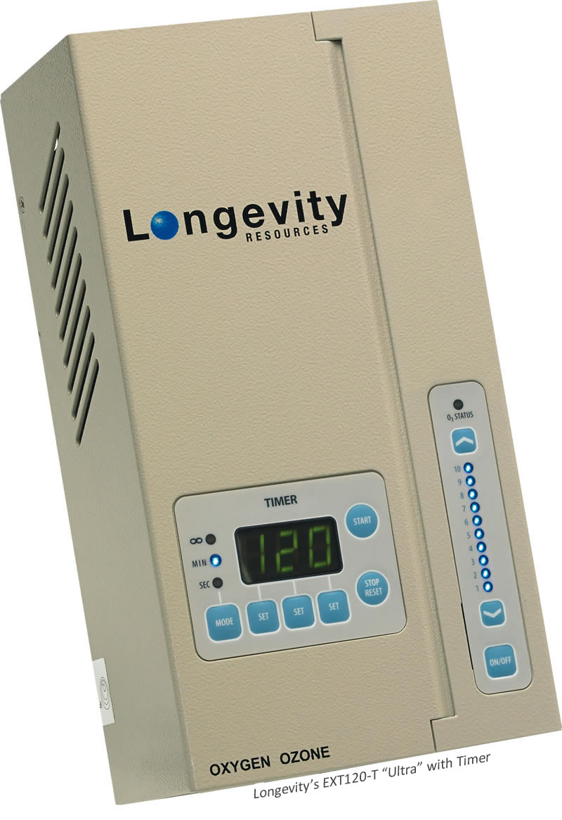 Longevity EXT120-T Ultra Ozone Generator with Timer and Glass Electrode